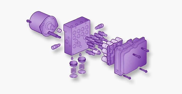 Bosch 8.0 ABS-ESP tekening