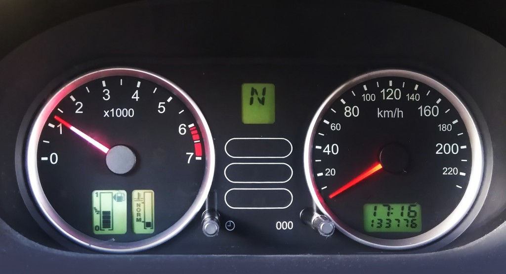 Ford Fiesta instrumentenpaneel