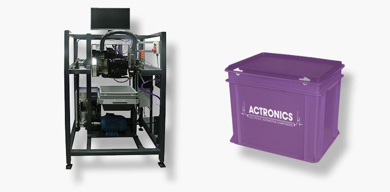 Testmachine and box