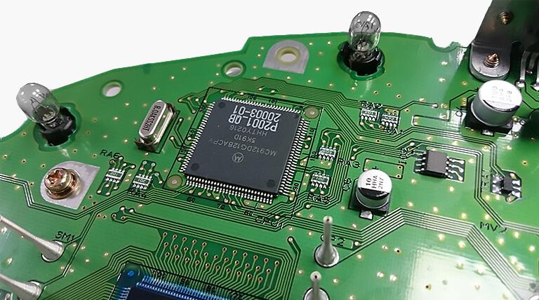 Volvo detalhes do quadro de instrumentos